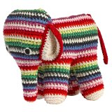 anne-claire petit Stuffed Animal Elephant multicolour striped