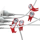 Peleg Design Cable Markers Mark Brothers Set of 5