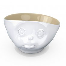 Latte Cup with Facial Motif Pouty Cup sand