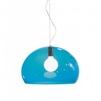 Hanging Lamp FL/Y transparent petrol blue