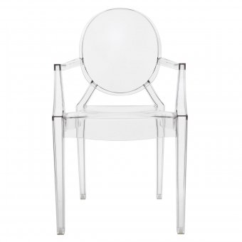 Chair Louis Ghost crystal clear