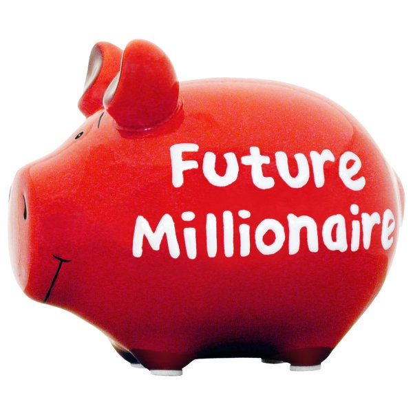 Piggy bank future millionaire for Geschenke 3000