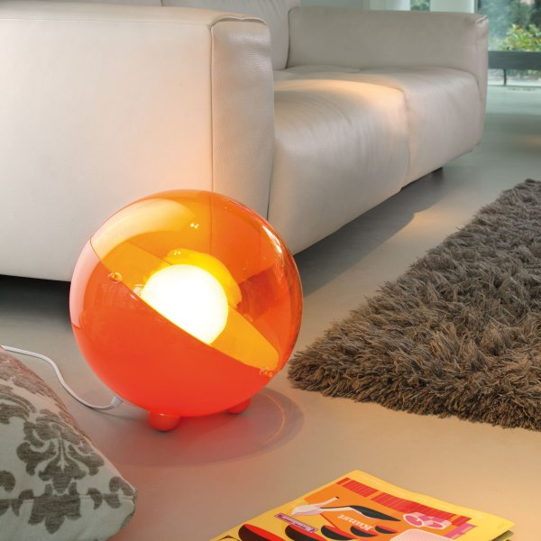 Floor Lamp Orion solid orange/transparent orange