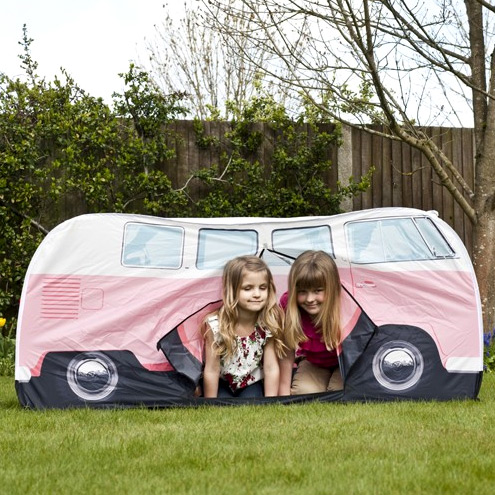 vw bus kid s tent pink. Black Bedroom Furniture Sets. Home Design Ideas