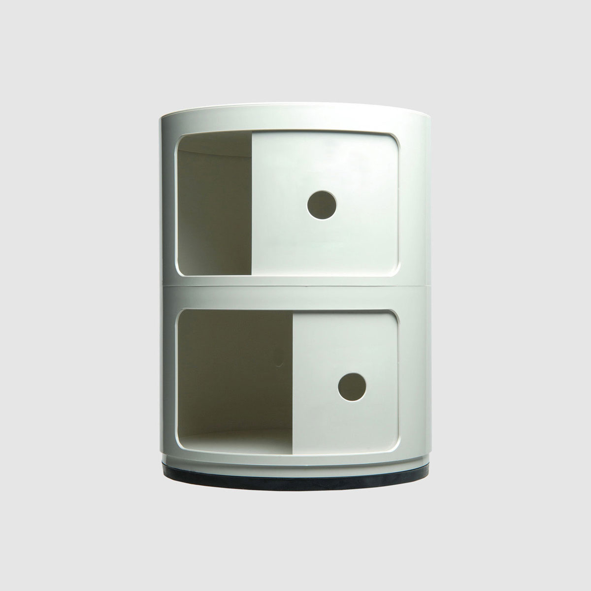 kartell container componibili 2 round white. Black Bedroom Furniture Sets. Home Design Ideas