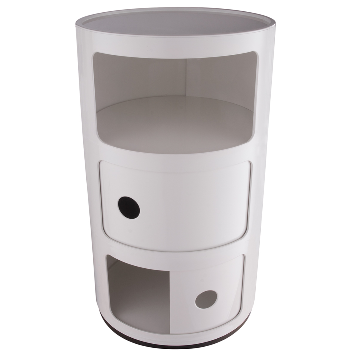 kartell container componibili 3 round white. Black Bedroom Furniture Sets. Home Design Ideas