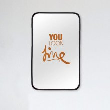 Mirror Decal you look fine