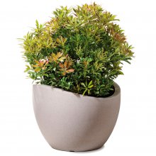 Planter 250 Wave Globe Taupe Granite