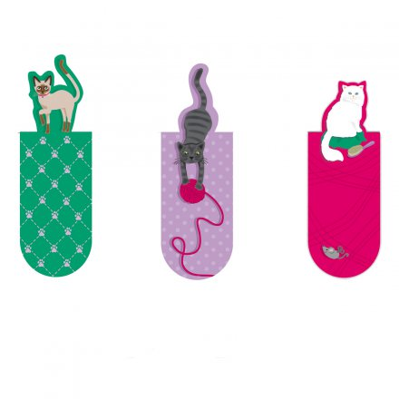 moses. Verlag Magnetic Bookmarks 3-piece Set Cats