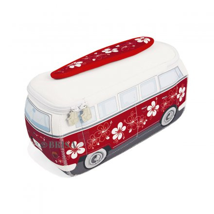 Universal Bag VW Bus 3D Neoprene red/hibiscus