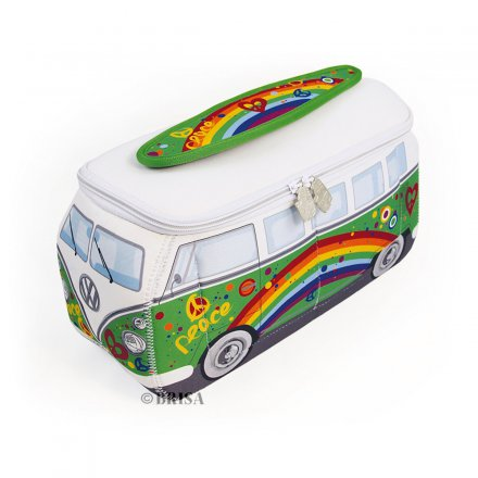 Universal Bag VW Bus 3D Neoprene green/peace
