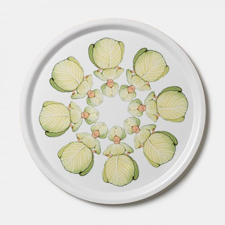 Design House Stockholm Elsa Beskow Tray round 35cm Mrs Cabbage