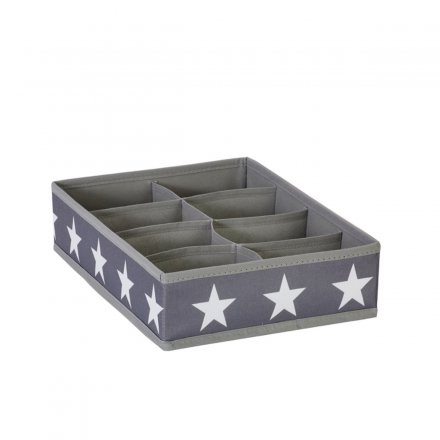 Store.It Sorting Storage Box Stars gray 8 compartments