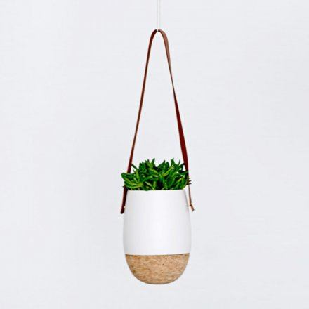 Bloomingville Hanging Flower Pot with Cork