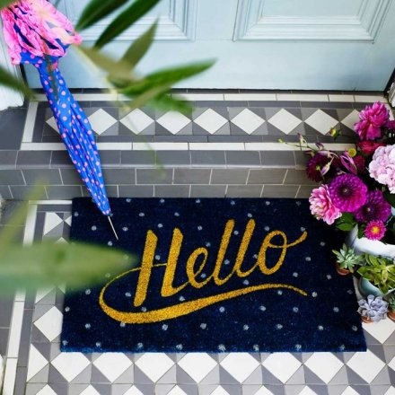 Bombay Duck Doormat Hello