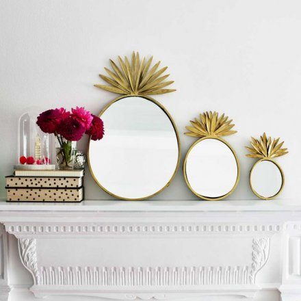 Bombay Duck Pineapple Mirrors Set of 3