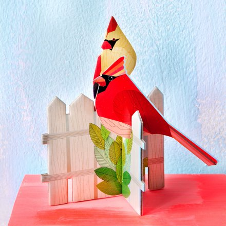 studio ROOF Pop Out Card Cardinals