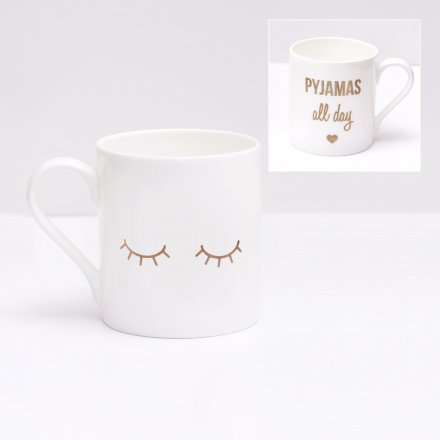 Mug Pyjamas All Day gold