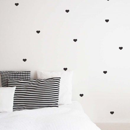 Wall Stickers Hearts black Set of 30