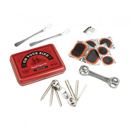 Gentlemen's Hardware Bicycle Tool & Puncture Kit On your bike