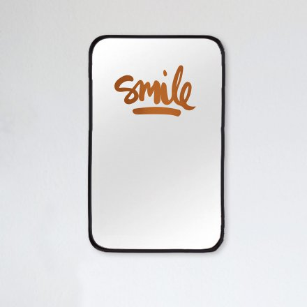 Formart Mirror Decal Smile copper