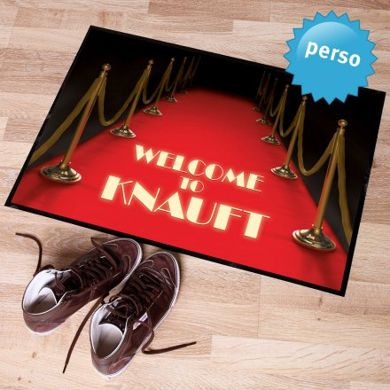 Personalized Doormat Red Carpet