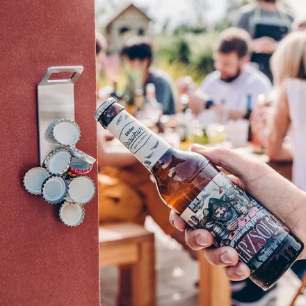 höfats Bottle Opener Johnny Catch Magnet