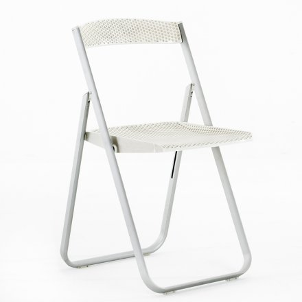 Kartell Folding Chair Honeycomb radiant white