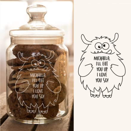 Personello Exclusive Personalized Cookie Jar Love-Monster