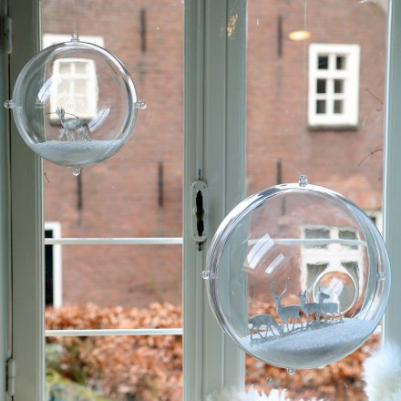 Koziol Orion Decoration Globe transparent