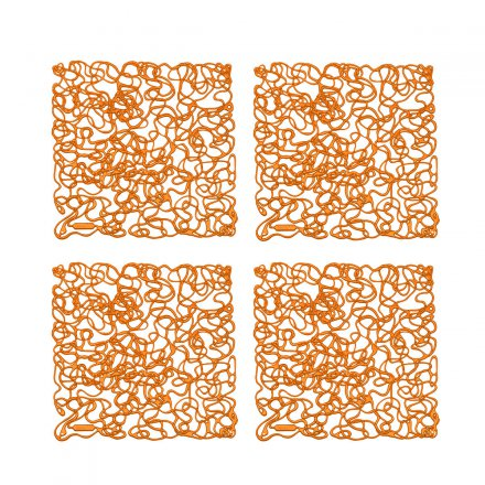 Koziol Ornament Fusion 4 pcs transparent orange