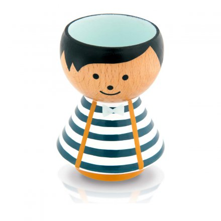 Bordfolk Eggcup Boy with blue Stripes