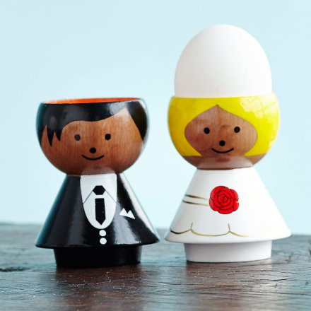 Bordfolk Eggcups Set of 2 Bride and Groom