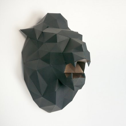Papercraft Wall Trophy Lion