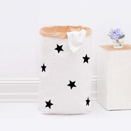 Paper Bag DIY Small Stars black