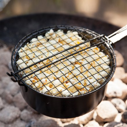 Esschert Design Popcorn Pan for BBQ and Campfire