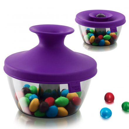 Vacu Vin Candy & Nut Dispenser PopSome purple