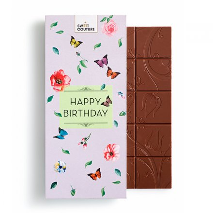 Fine Milk Chocolate Happy Birthday
