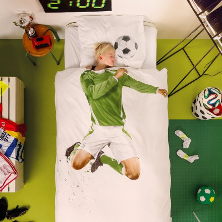 Snurk Bed Linen Set Soccer Champ Football Player