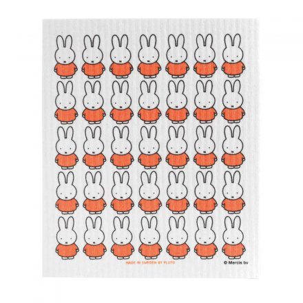 Pluto Dishcloth Miffy surface pattern