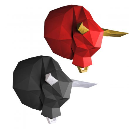 Papercraft Wall Trophy Bull