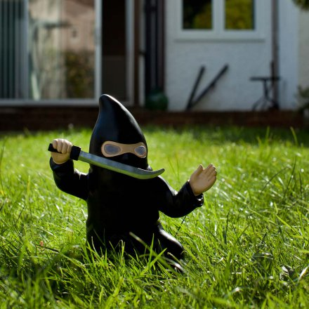 Thumbs Up Ninja Garden Gnome