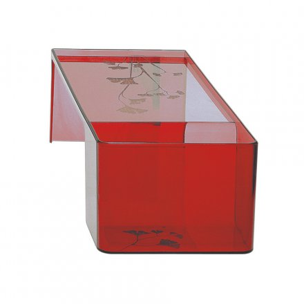Kartell Table Usame transparent red