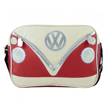 Shoulder Bag VW Bus red/beige