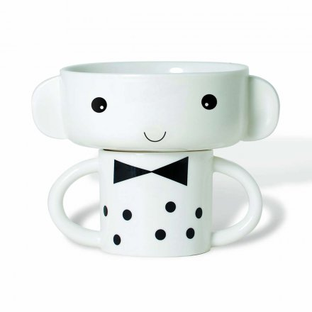 Mealtime Bowl & Cup Stacking Set - Boy
