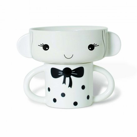 Mealtime Bowl & Cup Stacking Set - Girl