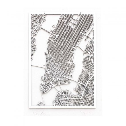 Westpaket 3D-City Map New York white