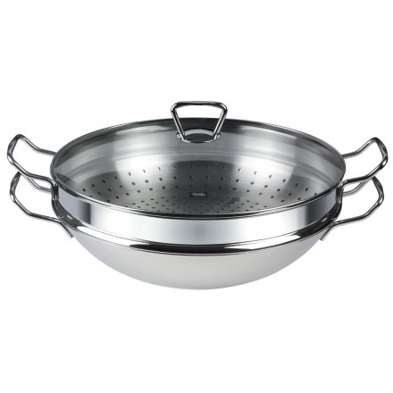 Fissler nanjing Wok with Glass Lid