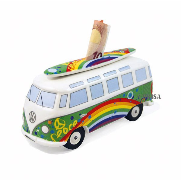 Savings Box VW Bus Peace with a Surfboard