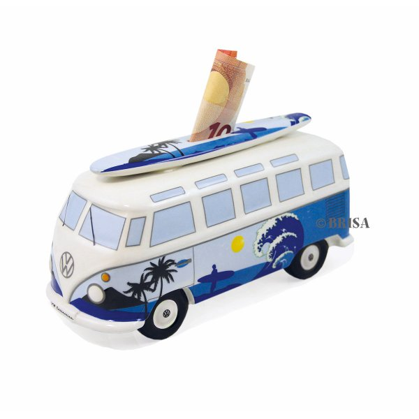Savings Box VW Bus Surf with Surfboard